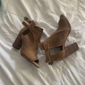 New open toe booties